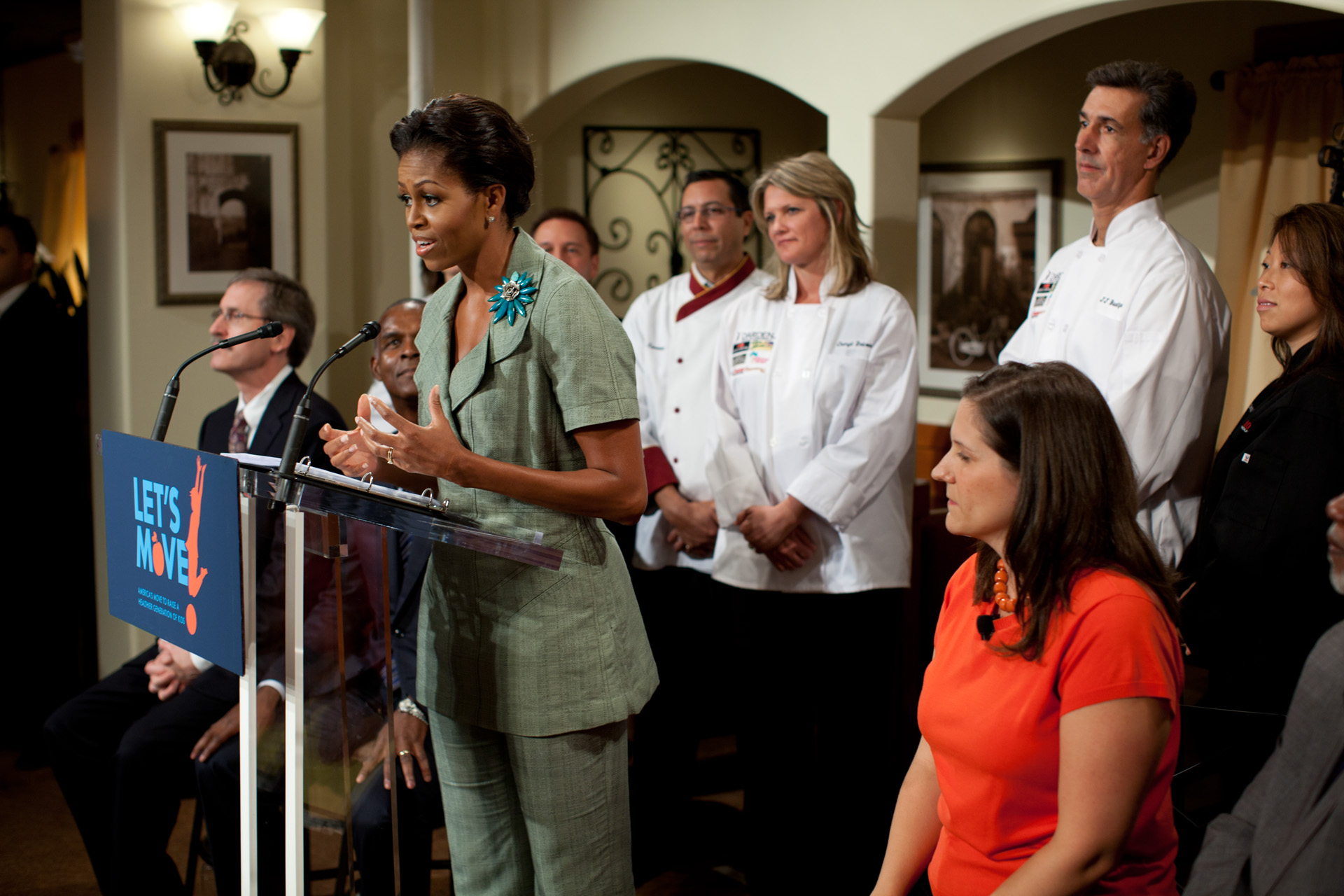 First Lady Michelle Obama announces Restaurants Health Commitments