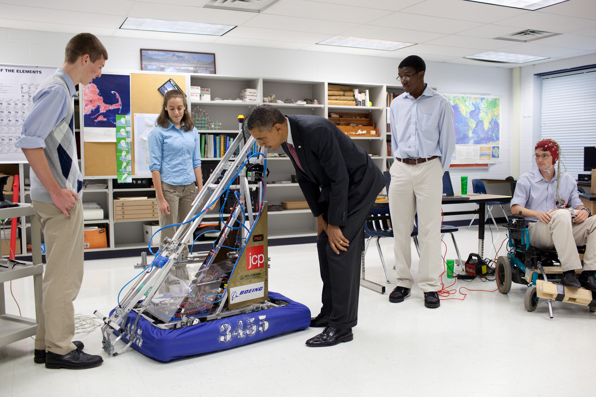 President Obama at Thomas Jefferson High School for Science and Technology