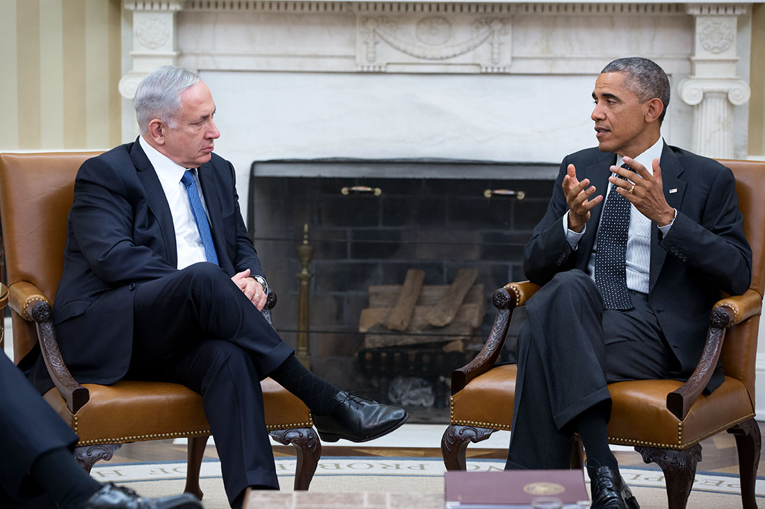 President Obama meets with Prime Minister Benjamin Netanyahu in the Oval Office, Oct 1, 2014