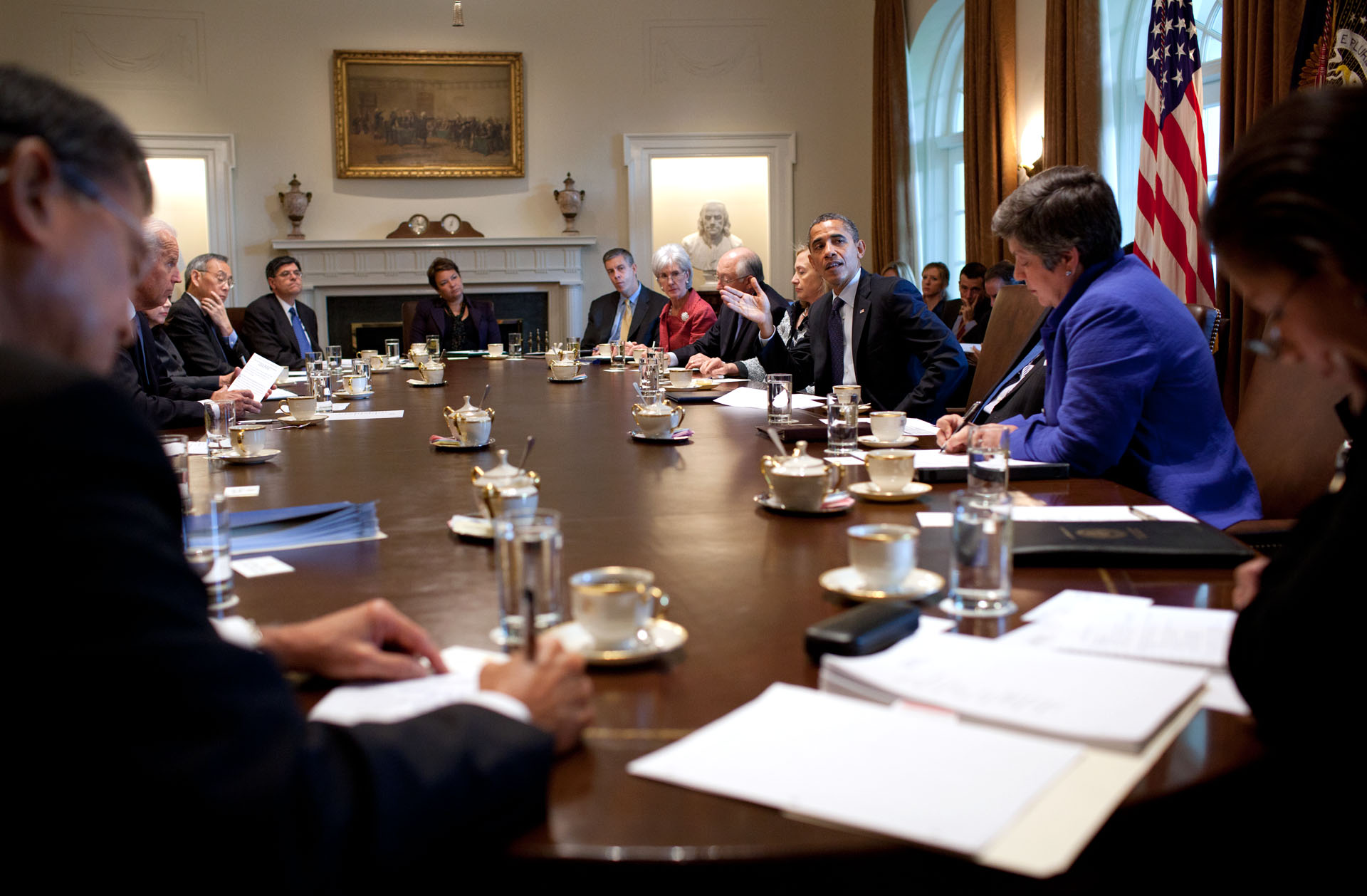 Obama And Cabinet President Obama Meets With Cabinet To Discuss Job Creation