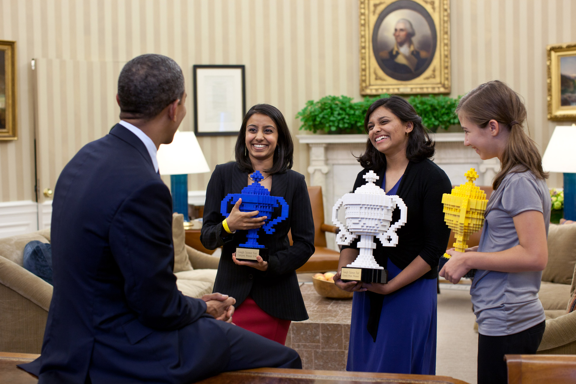 President Obama Congratulates Google Science Fair Winners