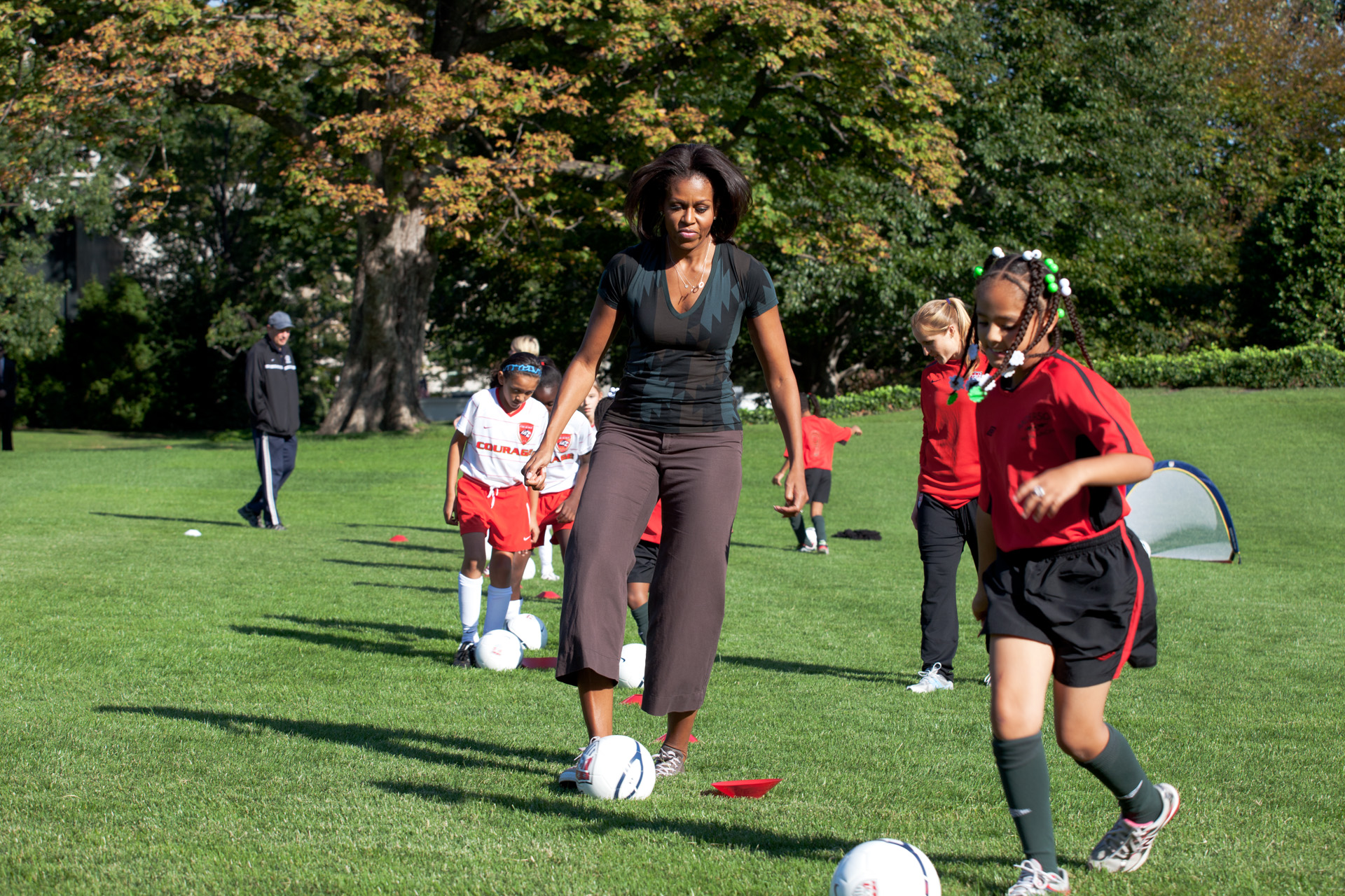 The First Lady and U.S. Women's National Soccer Team host a Soccer Clinic