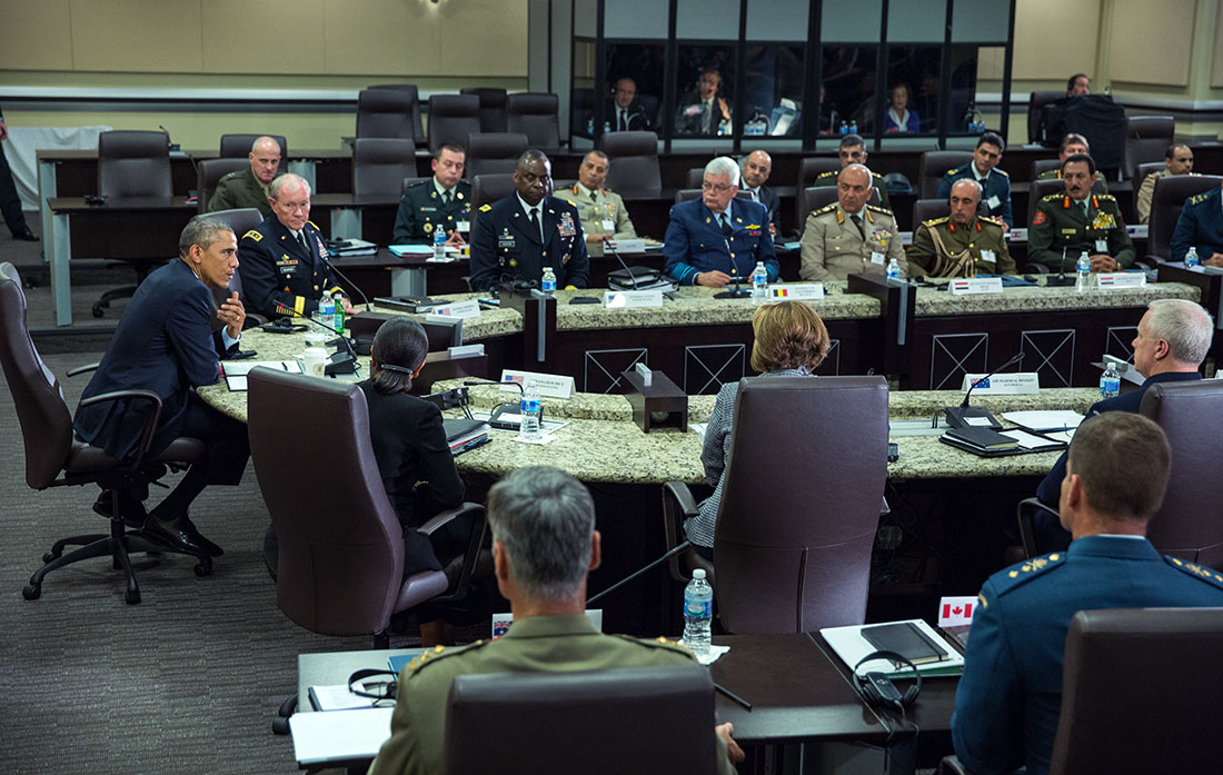 President Obama meets with more than 20 foreign chiefs of defense to discuss coalition efforts in the campaign against ISIL (2)