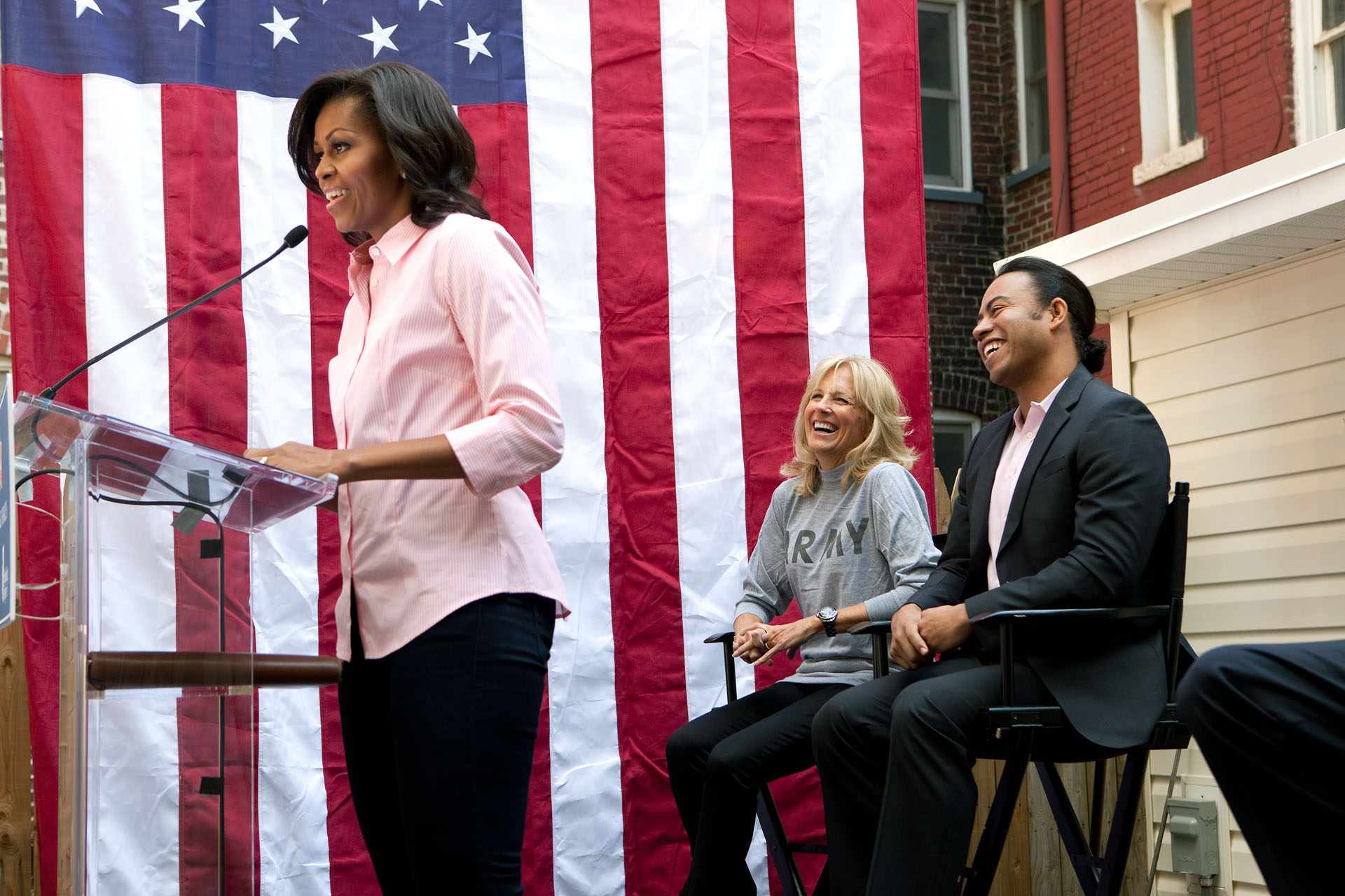 First Lady Michelle Obama Marks the 1,000th Home Rebuilt as part of Joining Forces