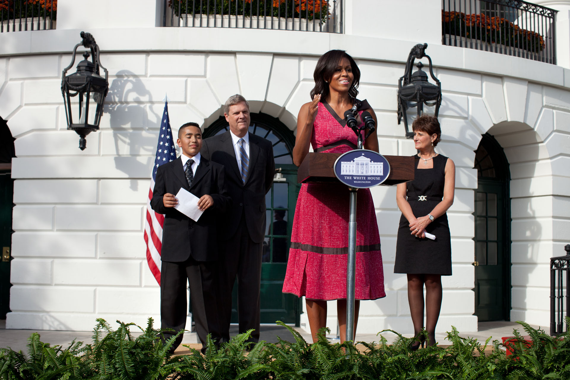 First Lady Michelle Obama delivers remarks on Healthier U.S. Schools Challenge