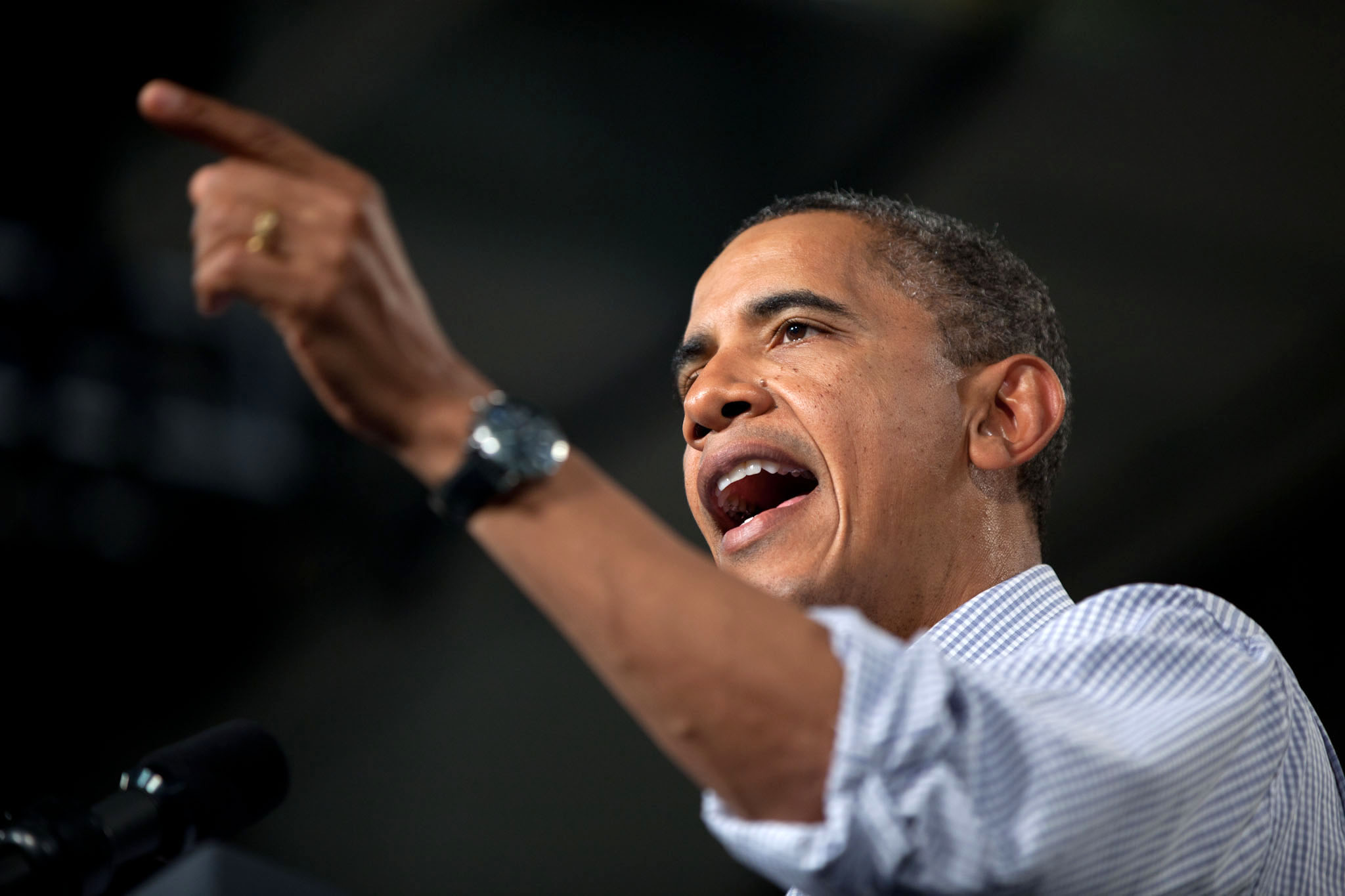 President Obama delivers remarks on the American Jobs Act at Greensville County High School