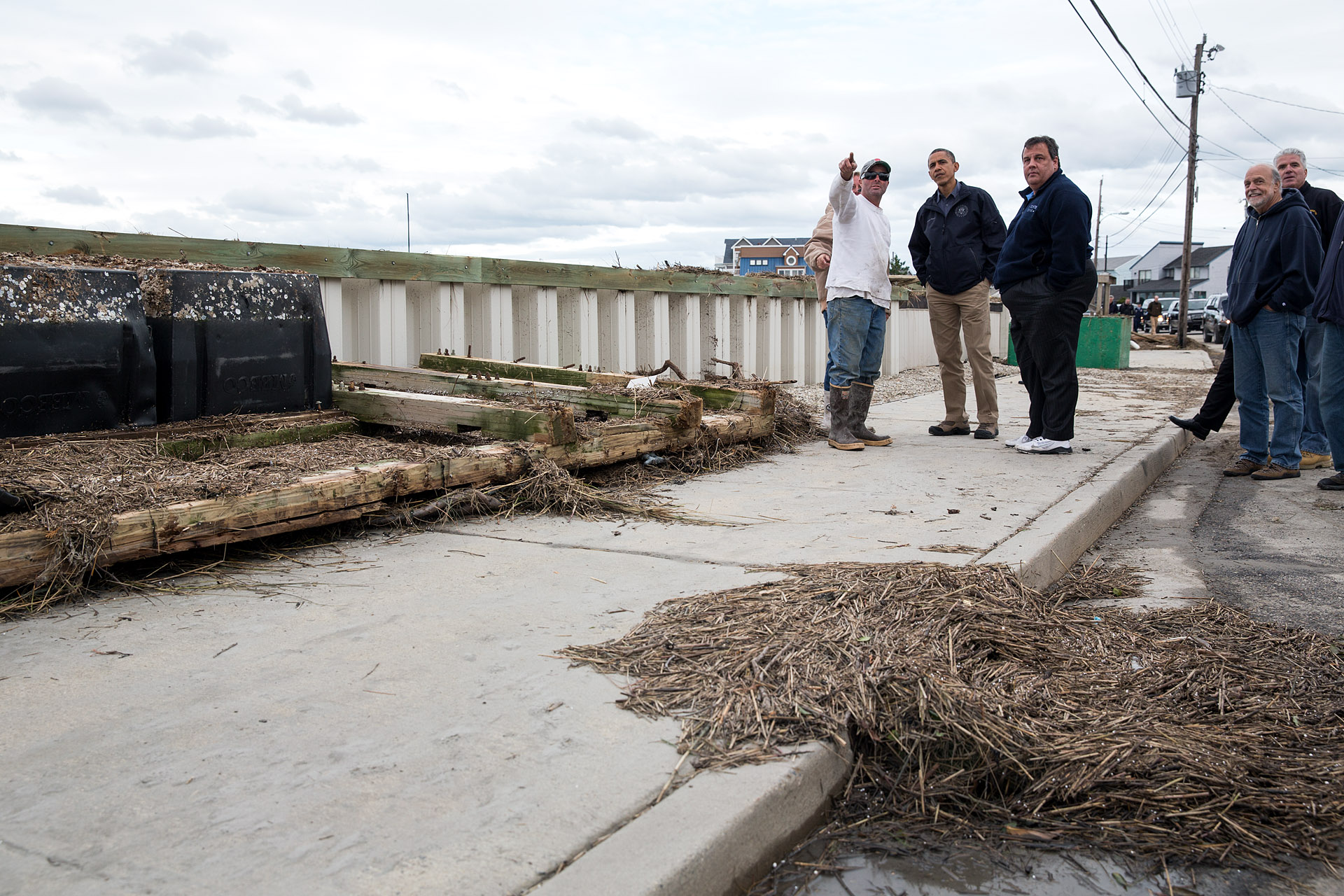 President Obama and Gov. Christie Survey Storm Damage