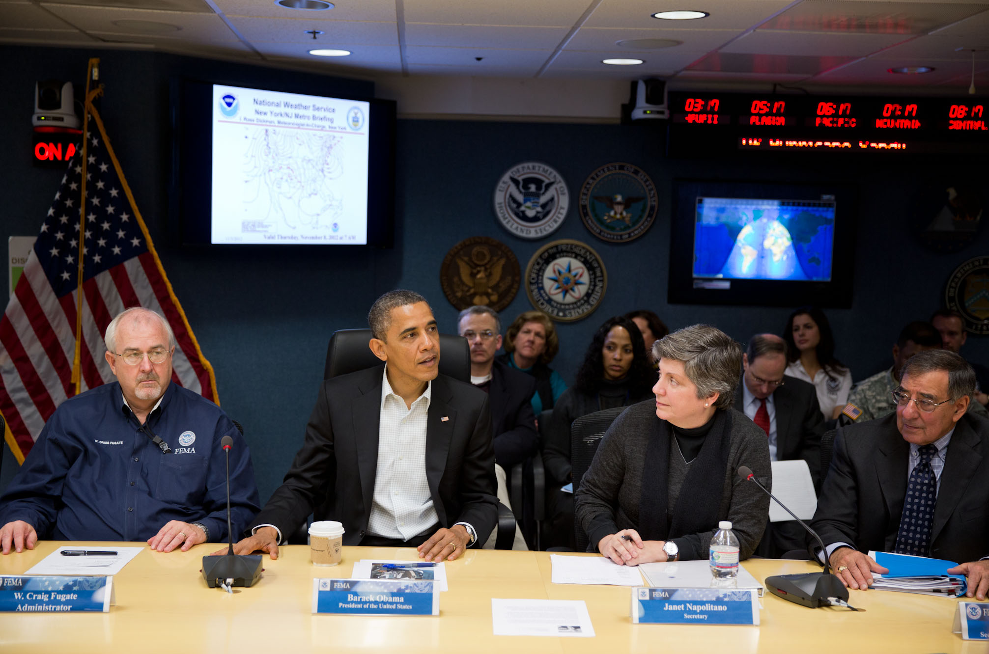 President Obama at FEMA Briefing Nov 3, 2012