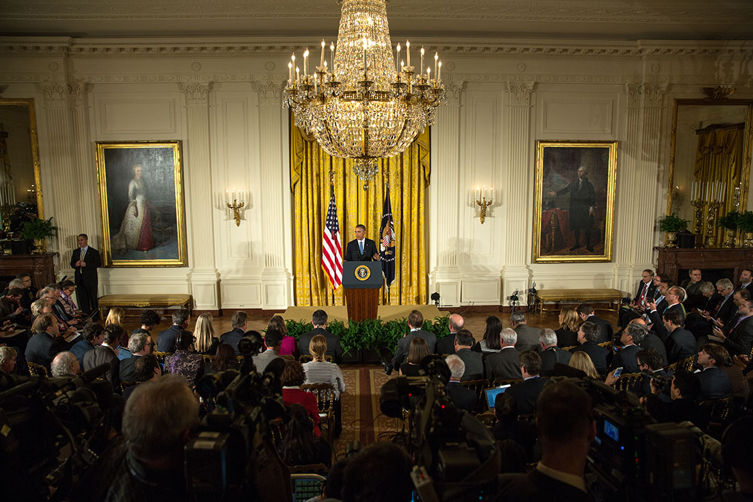President Barack Obama holds a press conference in the East Room of the White House, Nov. 5, 2014 (2)