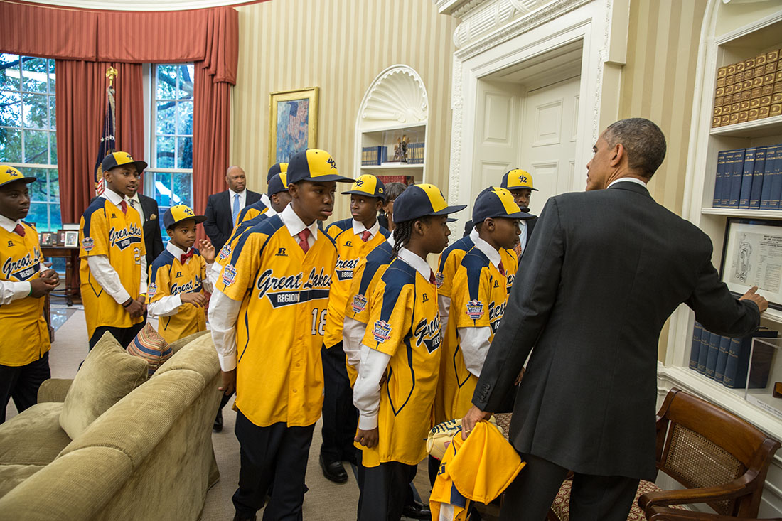 Jackie Robinson West All Stars Visit The Oval Office