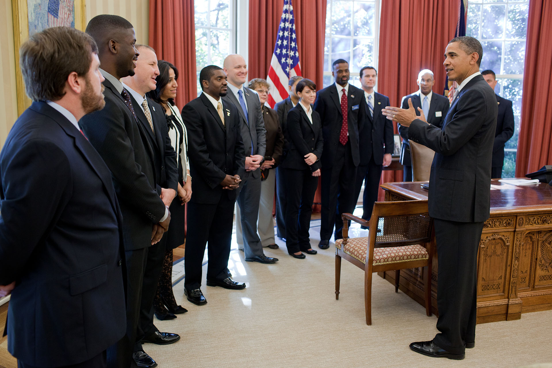 President Obama Greets Representatives From Veterans' Service Organizations