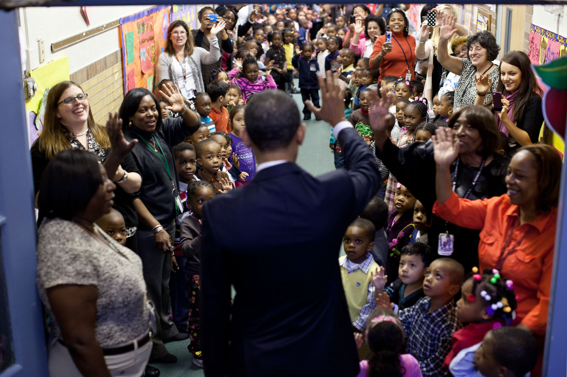 President Obama Says Goodbye to Students at the Yeadon Regional Head Start Center