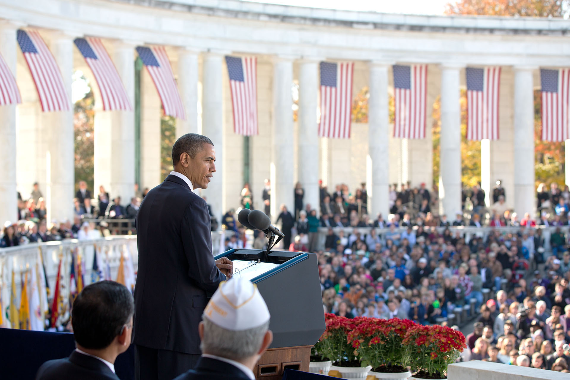 President Obama at Arlington National Cemetery