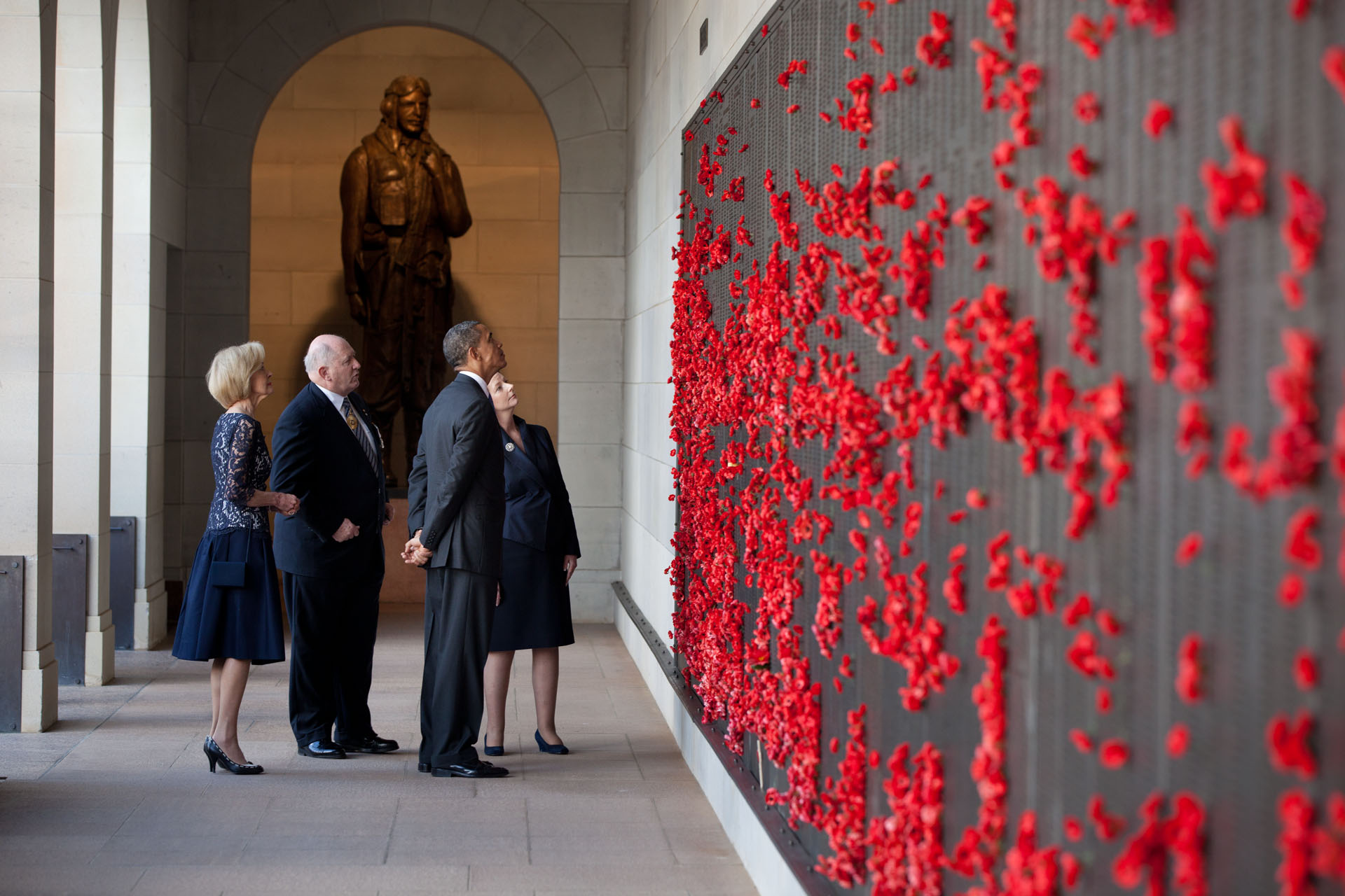 President Barack Obama Tours The Australian War Memorial