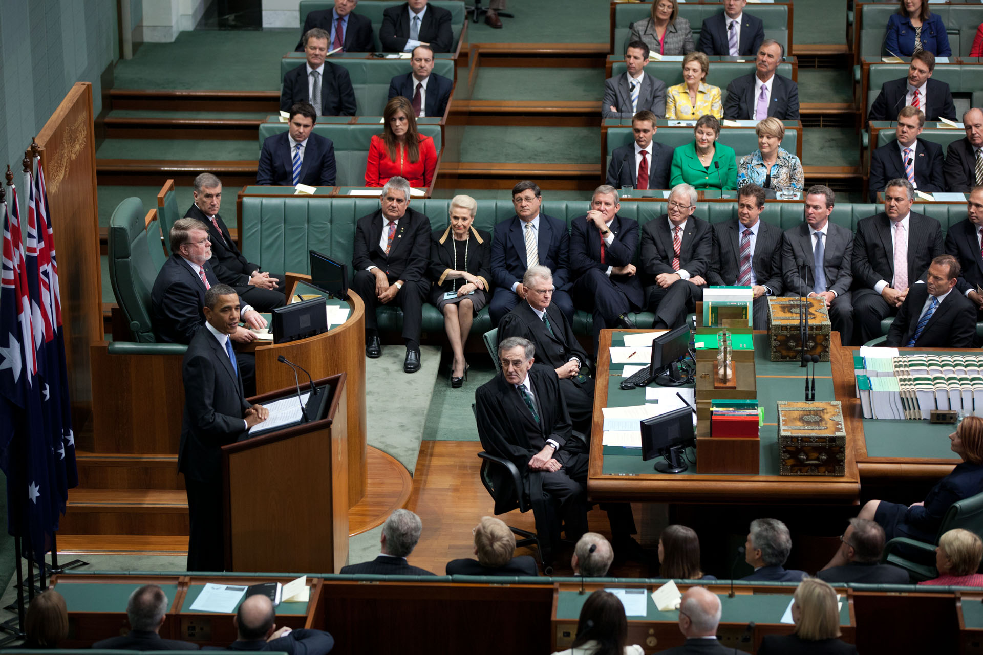 President Barack Obama Addresses The Australian Parliament