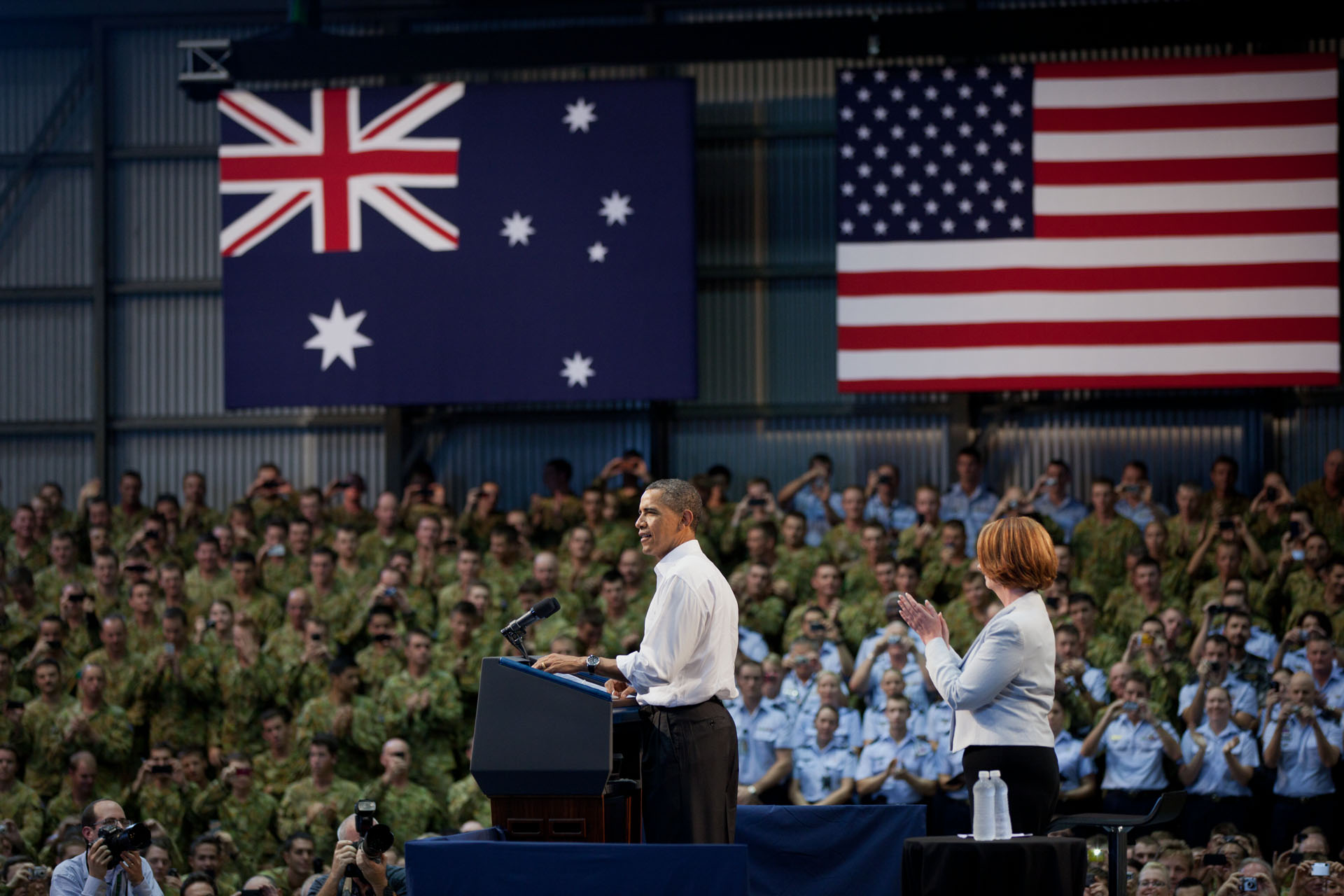 President Barack Obama Delivers Remarks