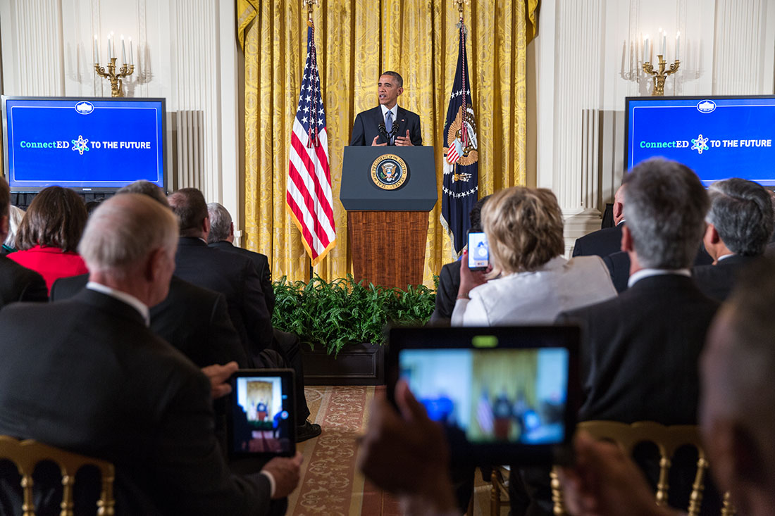President Obama delivers remarks during the