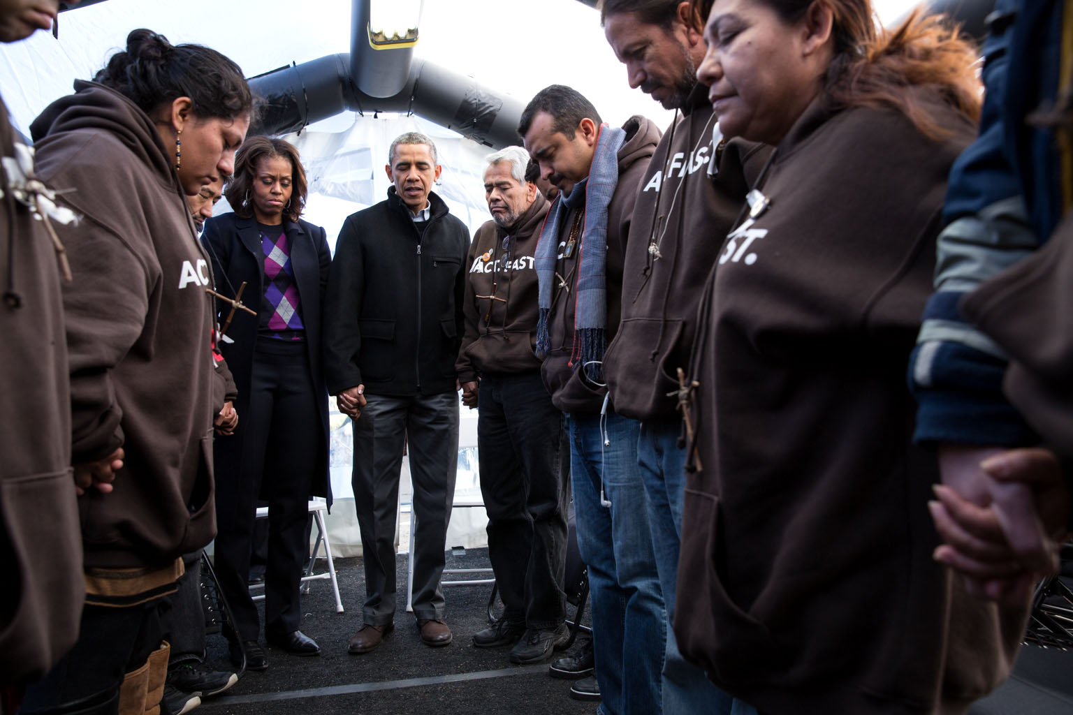 President Obama and the First Lady visited the brave individuals who are fasting in the shadow of the Capitol, sacrificing their health in an effort to get Congress to act swiftly on commonsense immigration reform.