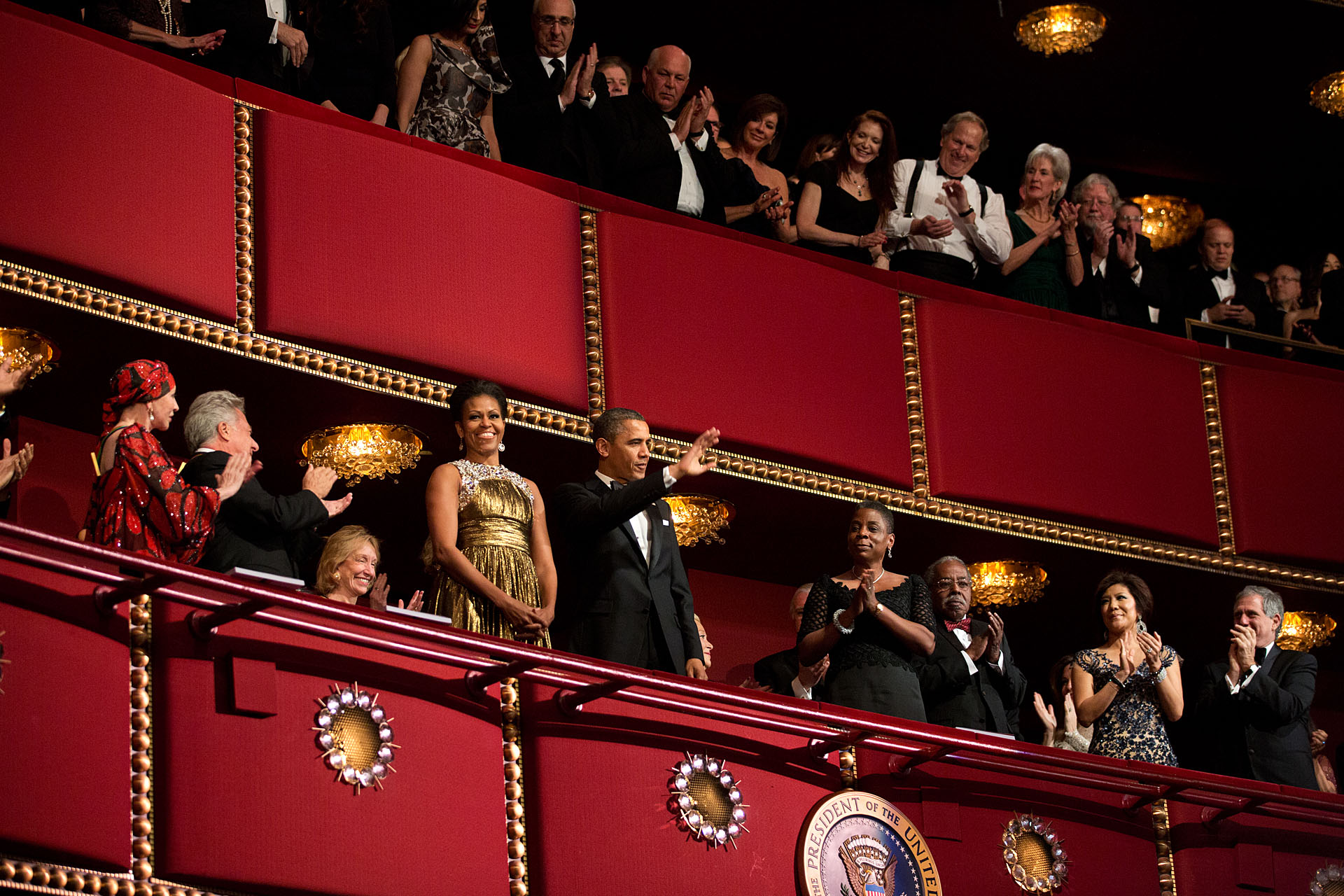 President and Mrs. Obama attend the 2012 Kennedy Center Honors, Dec. 2, 2012.