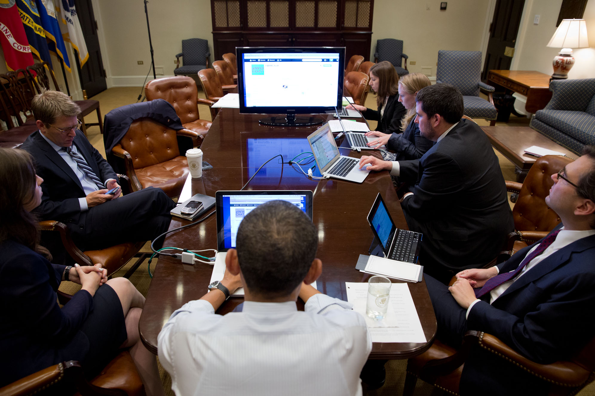 President Obama Participates In A Live Twitter Q&A
