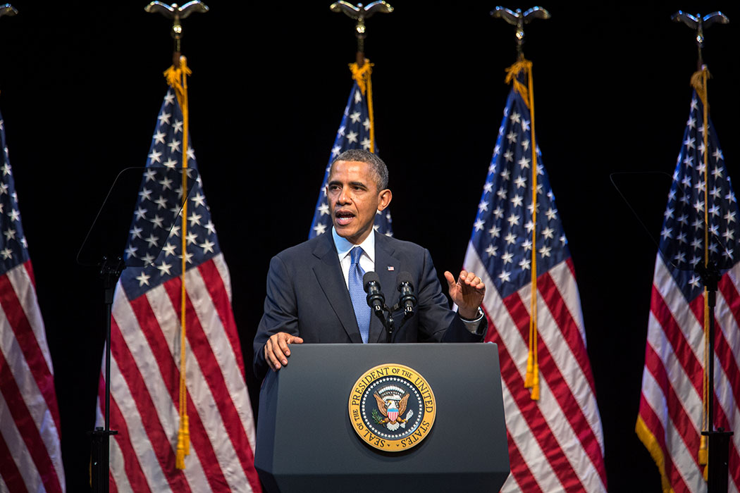 President Barack Obama delivers remarks on economic mobility during an event hosted by the Center for American Progress