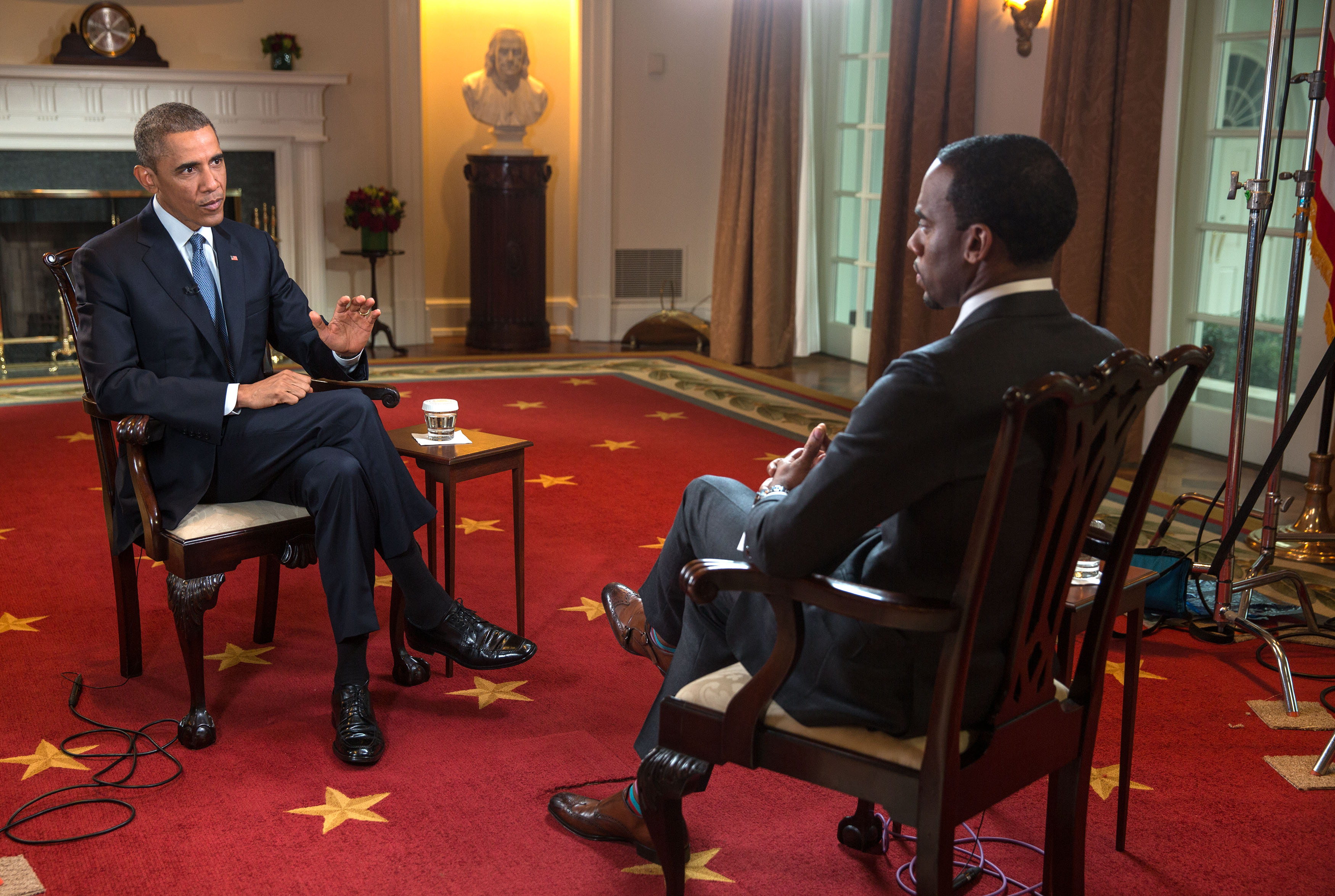 Obama And Cabinet Excerpts From President Obamas Bet Interview On Race Relations