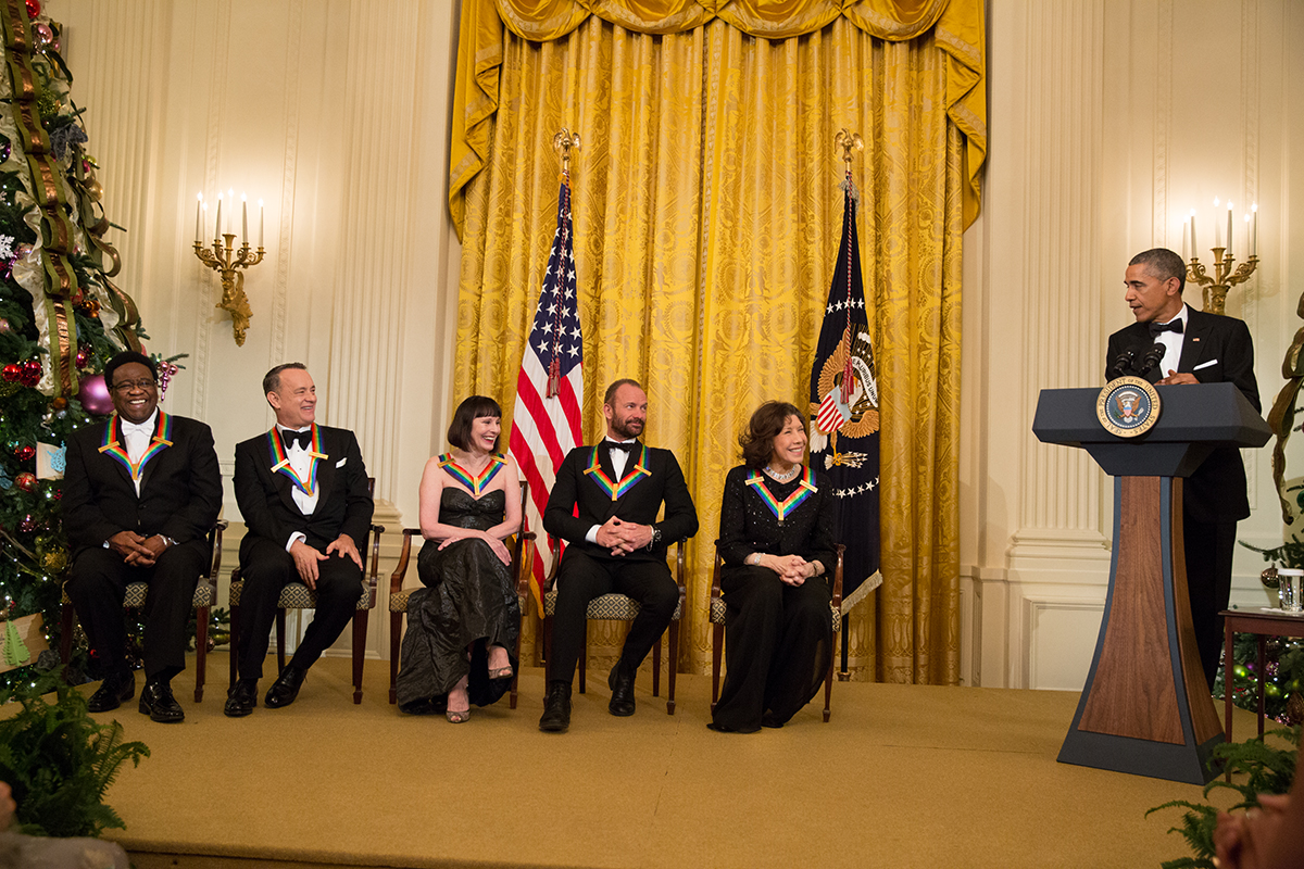 President Obama delivers remarks at the 2014 Kennedy Center Honors reception