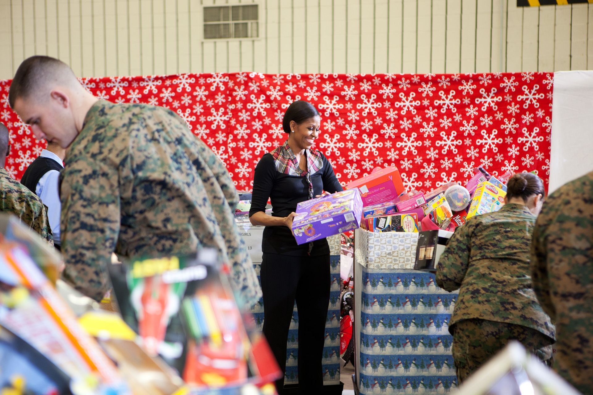 First Lady at Toys for Tots Event