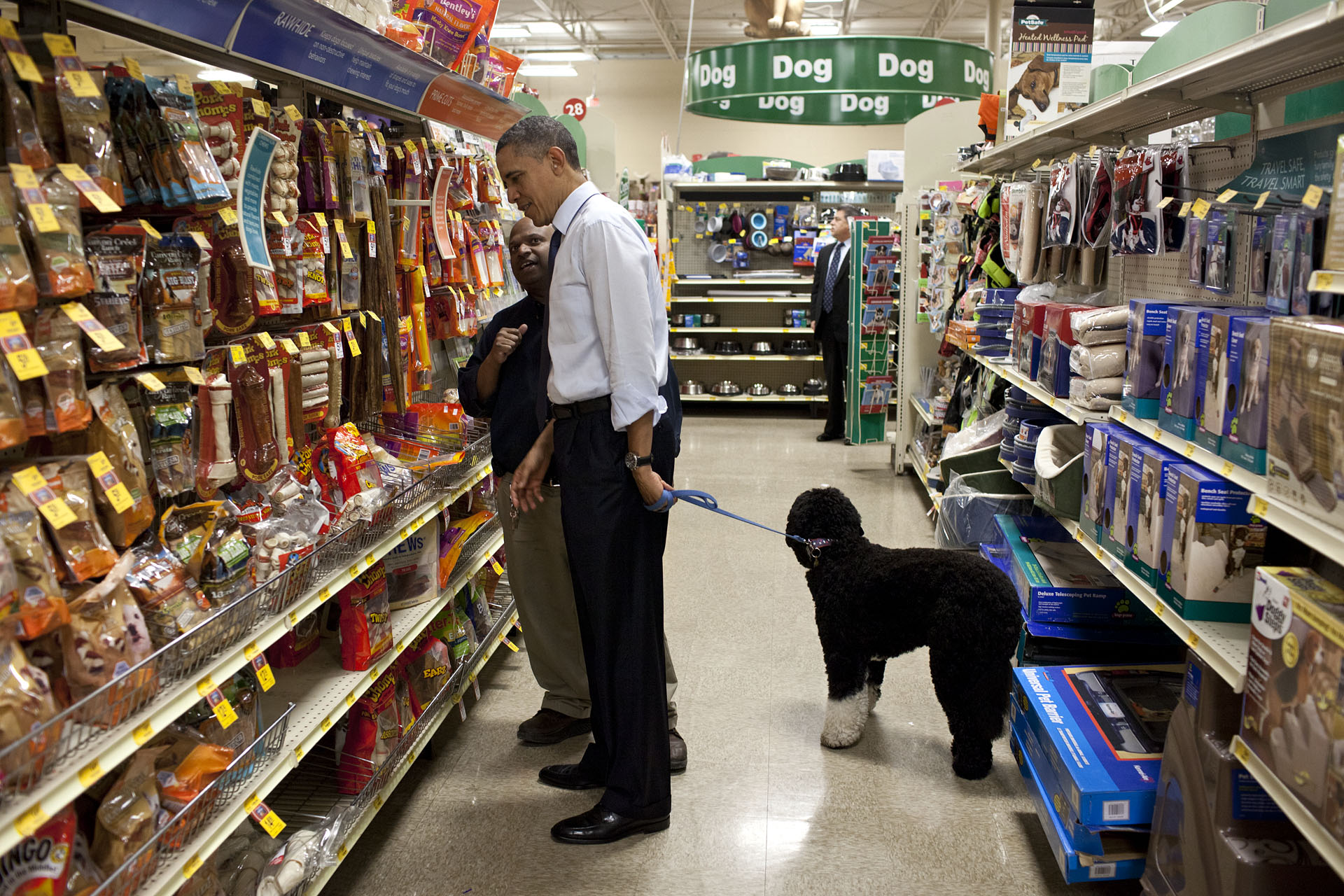 President Barack Obama Selects A Bone For Bo