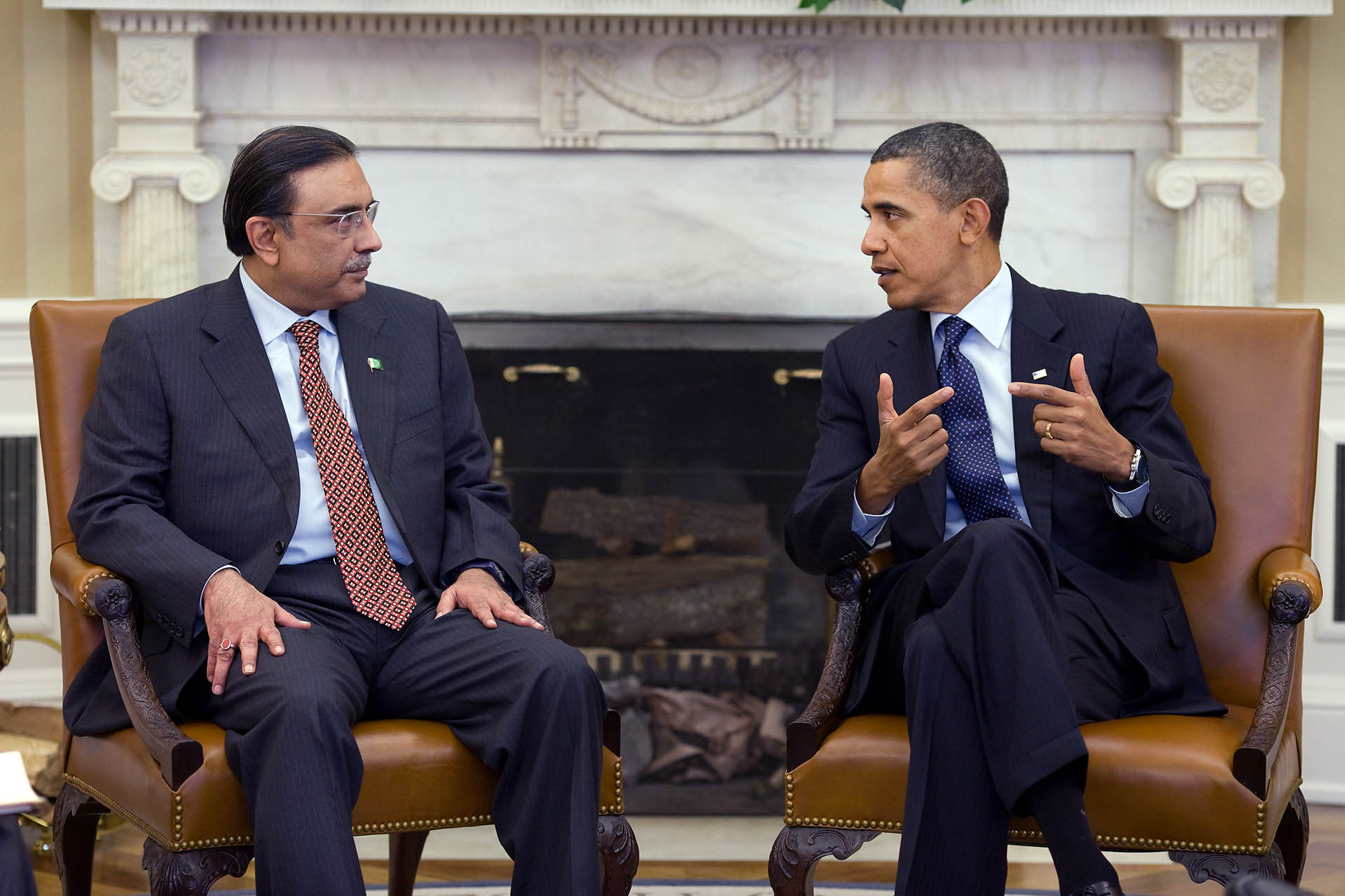President Barack Obama Meets with President Asif Ali Zardari of Pakistan