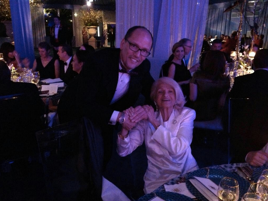 Secretary Perez with Edie Windsor, of U.S. vs. Windsor, at a White House State Dinner in February 2014.