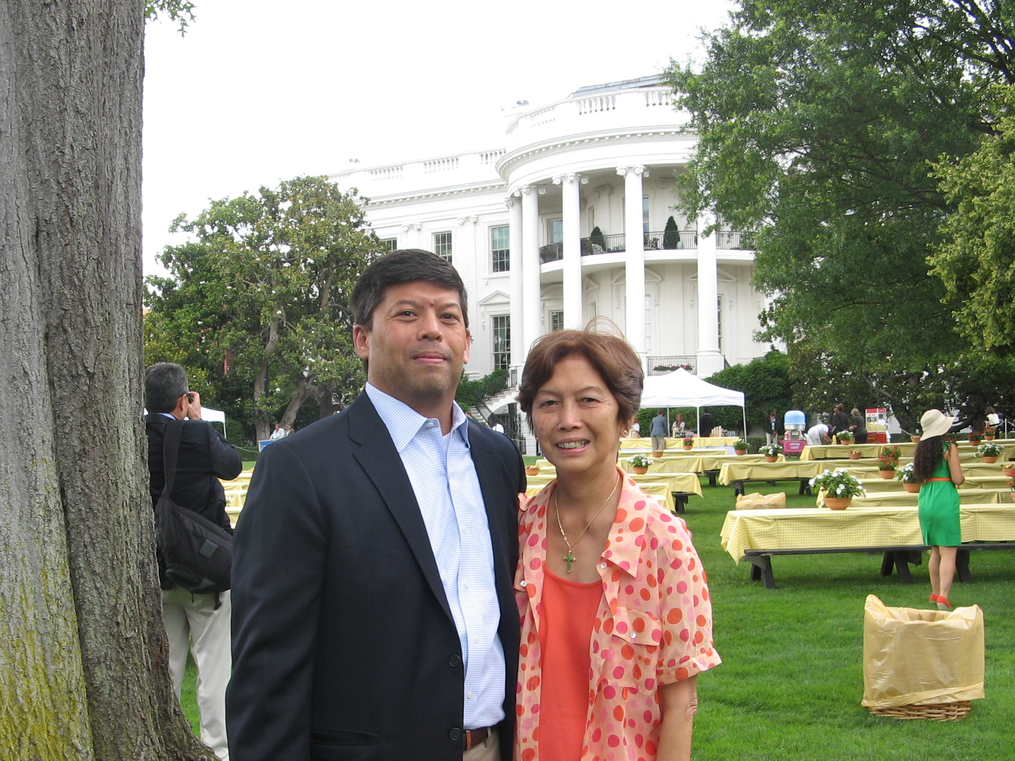 Hector Leonard Perez Vargas Jr at the White House