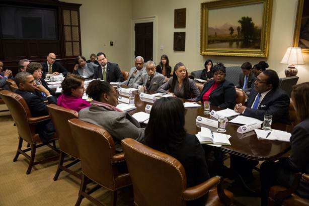 African American Leaders Meeting with President Obama