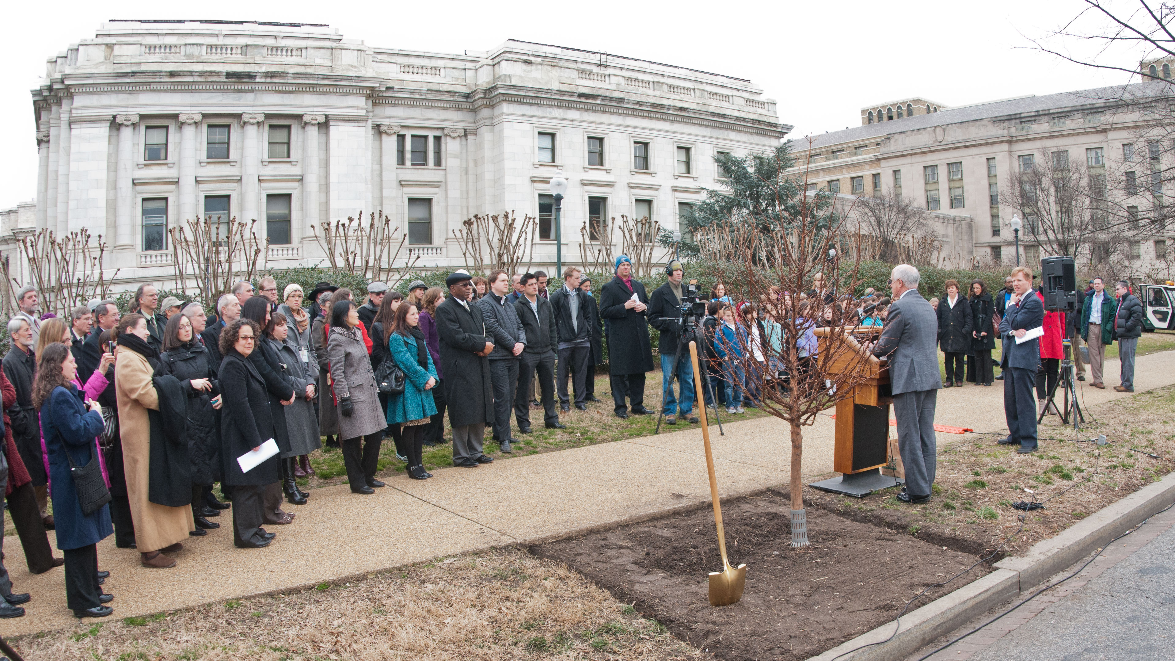 USDA Under Secretary Harris Sherman Speaks at a Ceremony for Tu B'Shevat