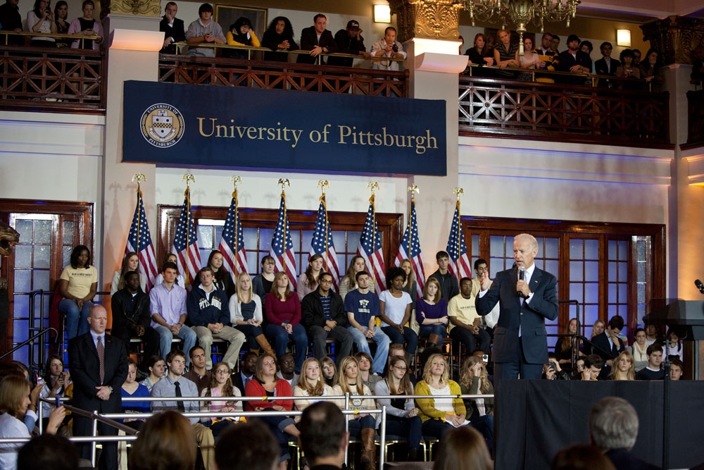 Vice President Biden in Pittsburgh Speaking About College Affordability