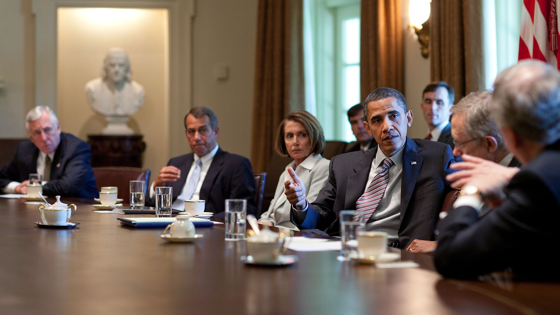 Obama And Cabinet President Obama Meets With Congressional Leaders On The Bp Spill