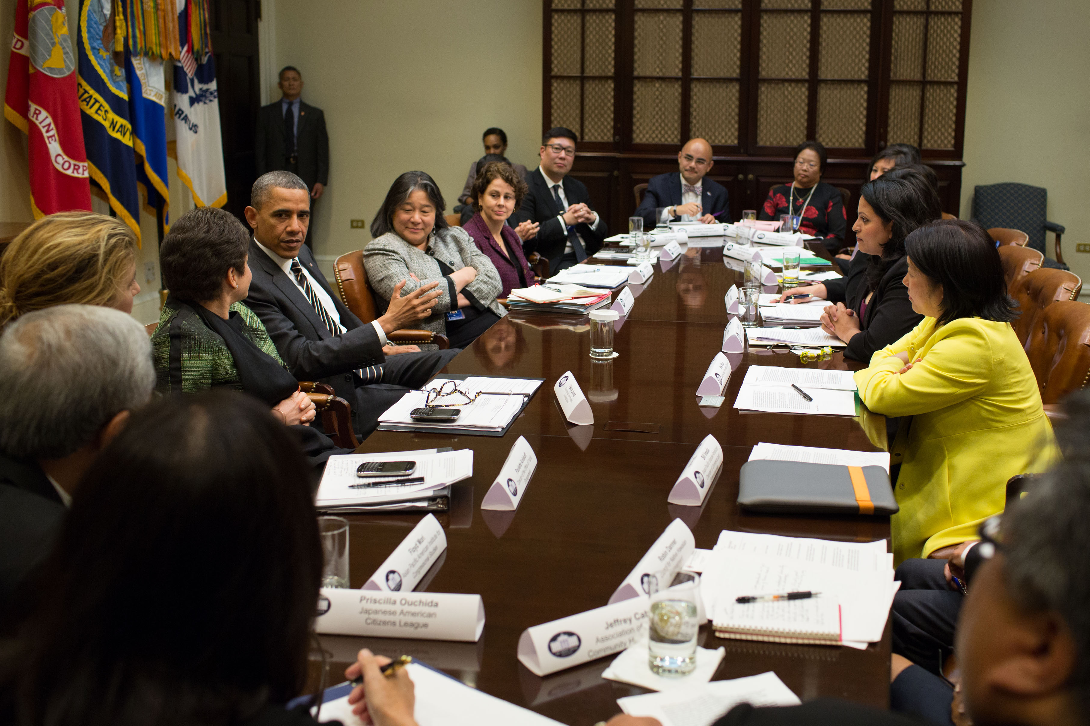 President Barack Obama Meets with Asian American and Pacific Islander National Leaders