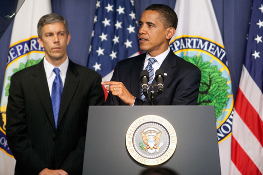 President Obama and Arne Duncan Introduce Race to the Top
