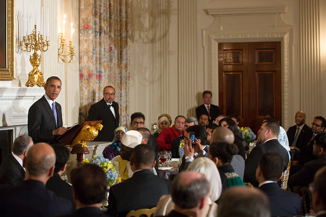 President Barack Obama hosts an Iftar dinner celebrating Ramadan in the State Dining Room