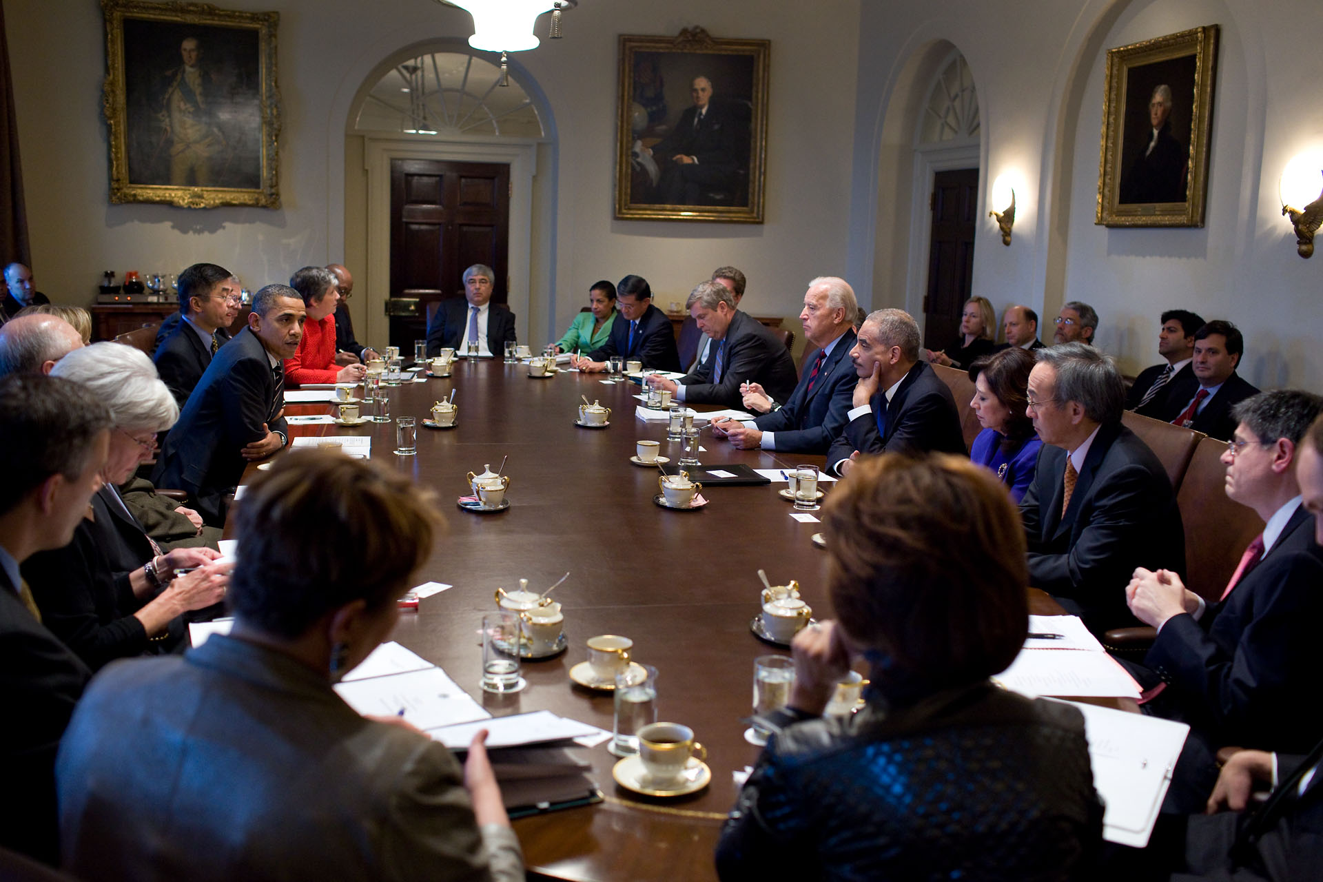 Obama And Cabinet President Obama Holds A Cabinet Meeting In Photos Whitehousegov