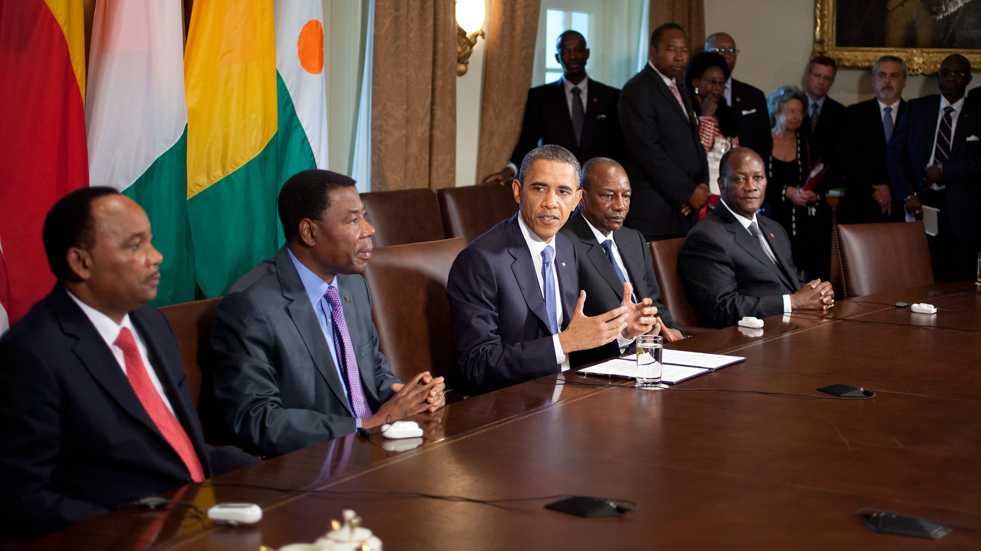 The President Meets with Democratically Elect African Heads of State