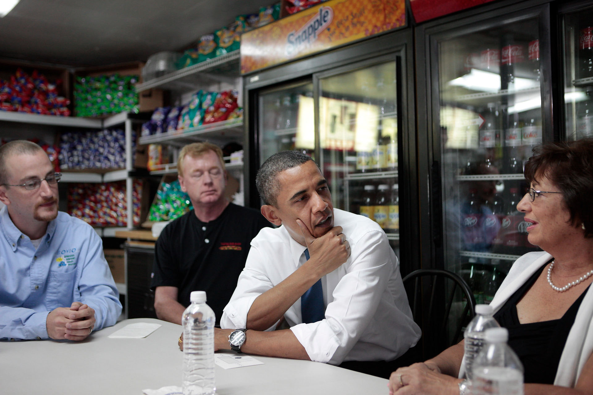 President Obama Speaks with Small Business Owners