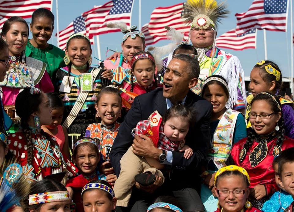President Barack Obama Attends the Cannon Ball Flag Day Powwow in Cannon Ball, North Dakota
