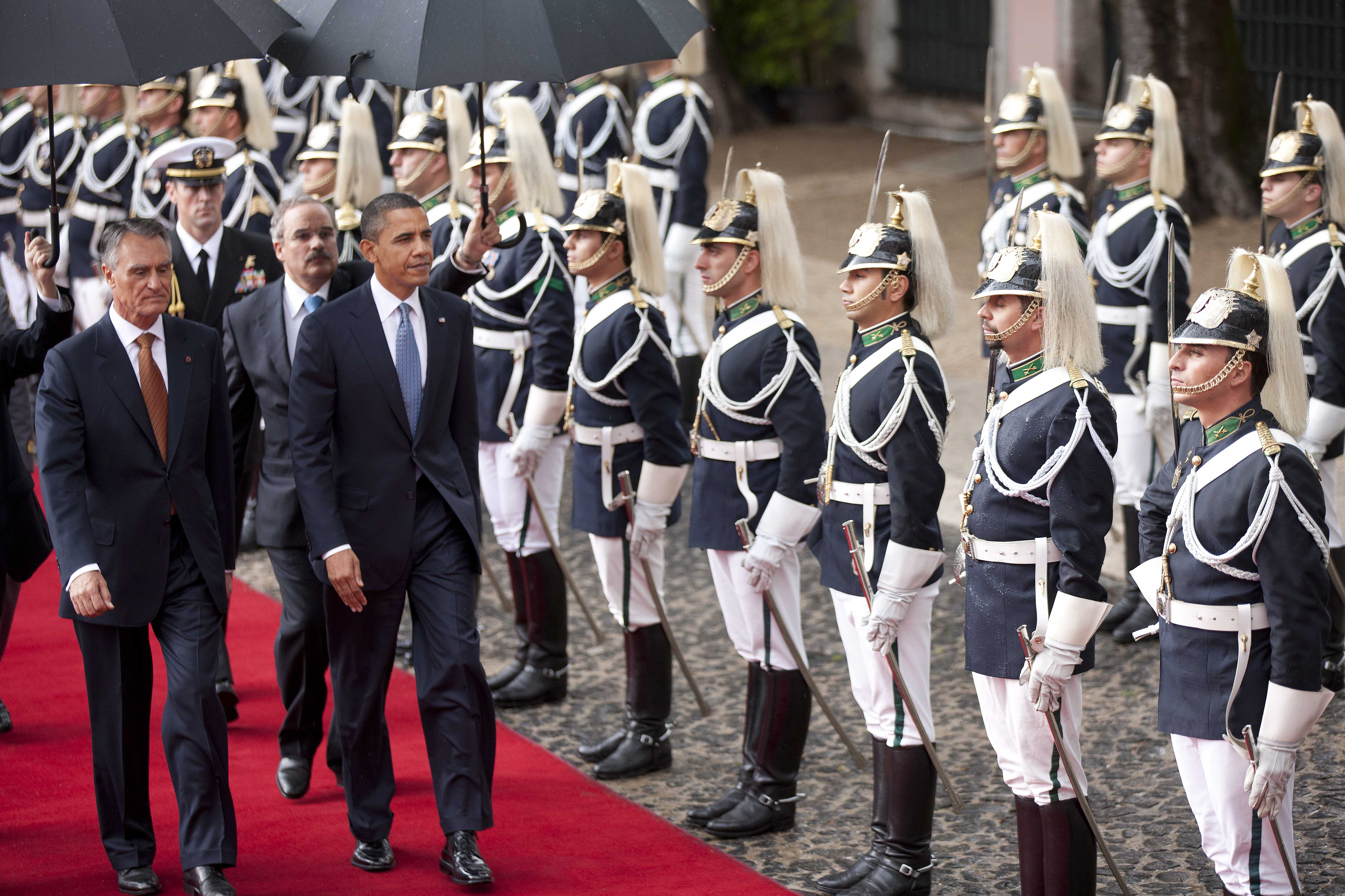 The President Attends an Arrival Ceremony in Lisbon
