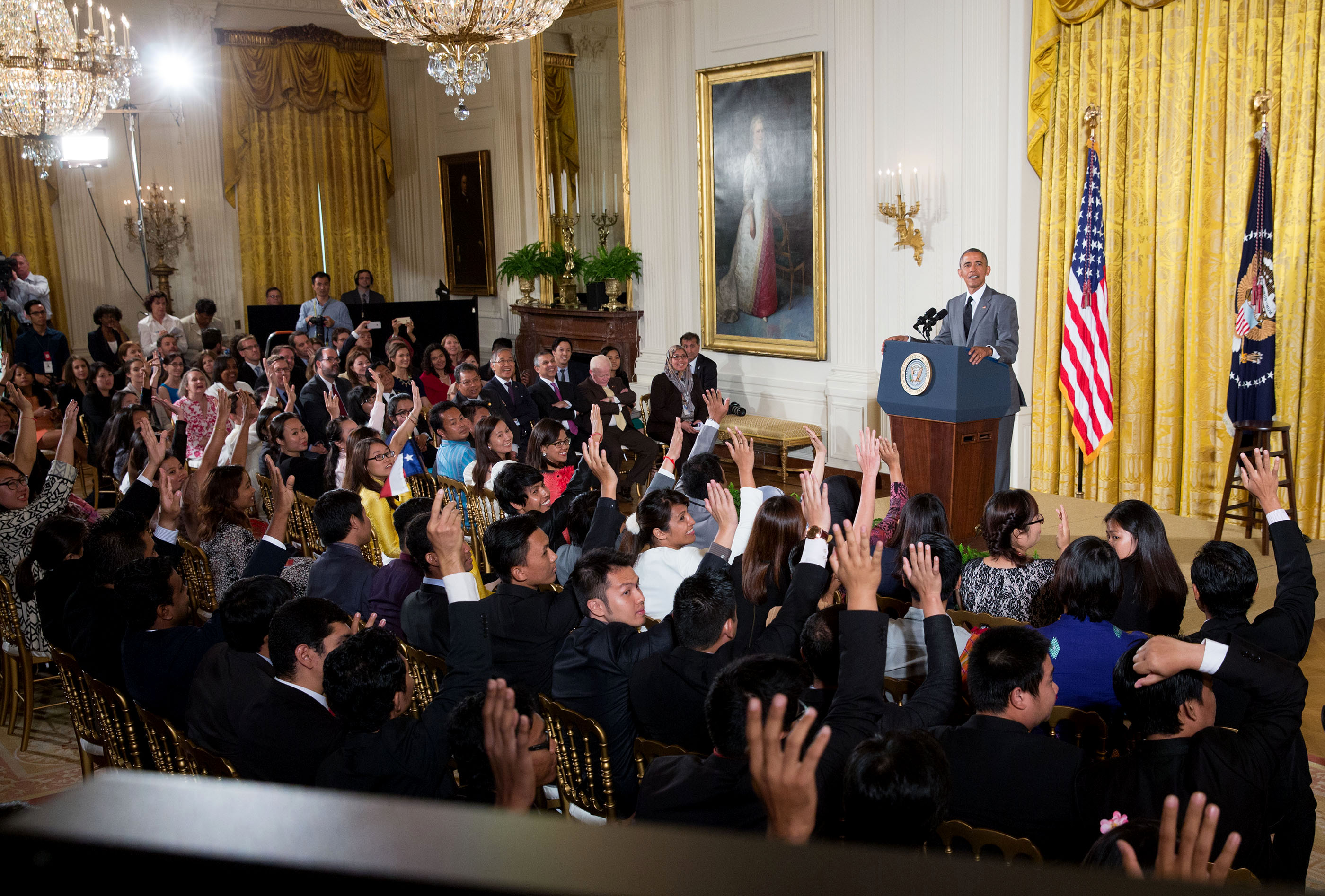 President Obama answers questions from YSALI