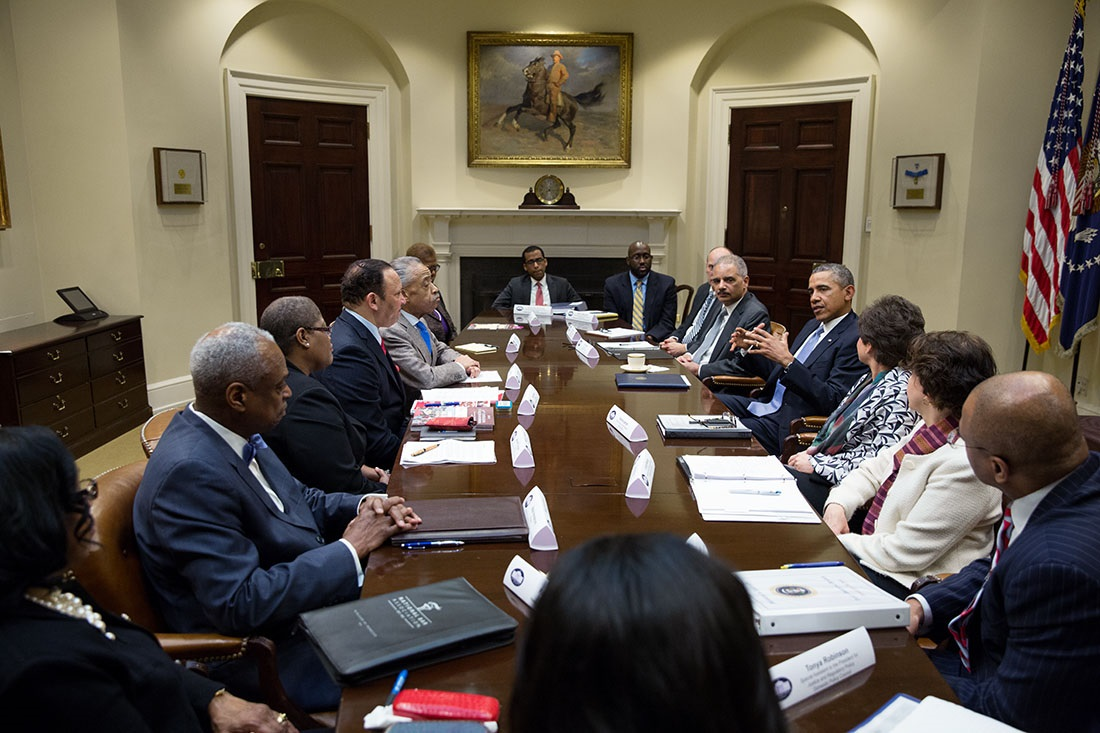 President Obama Meets with African American Civil Rights Leaders