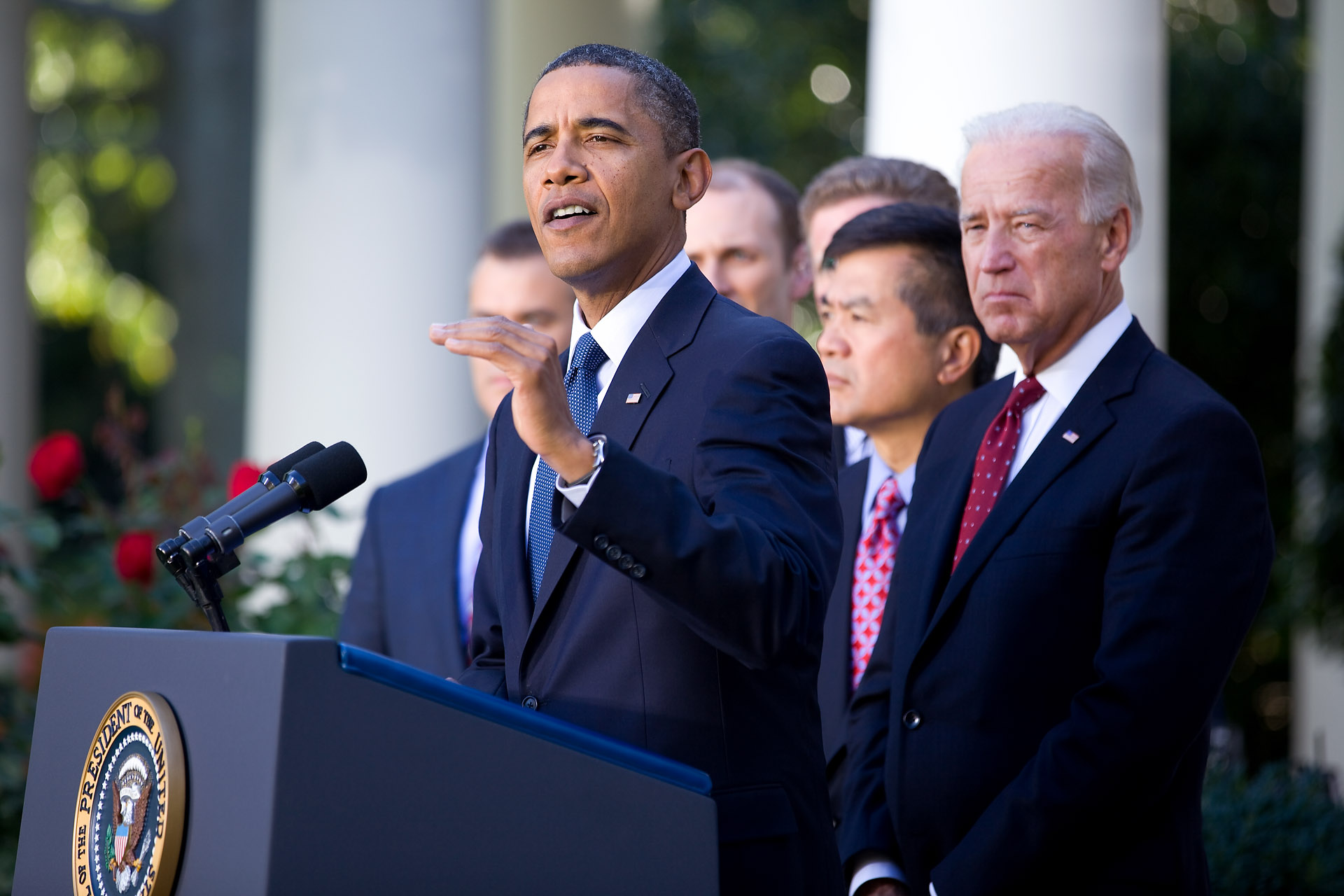 President Barack Obama Speaks on the Economy from the Rose Garden
