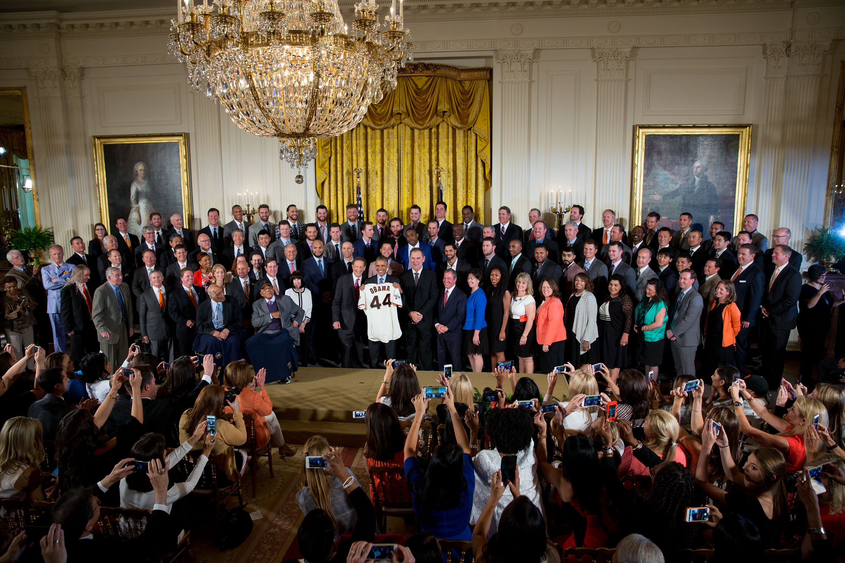 President Obama hosts the 2015 San Francisco Giants at the White House