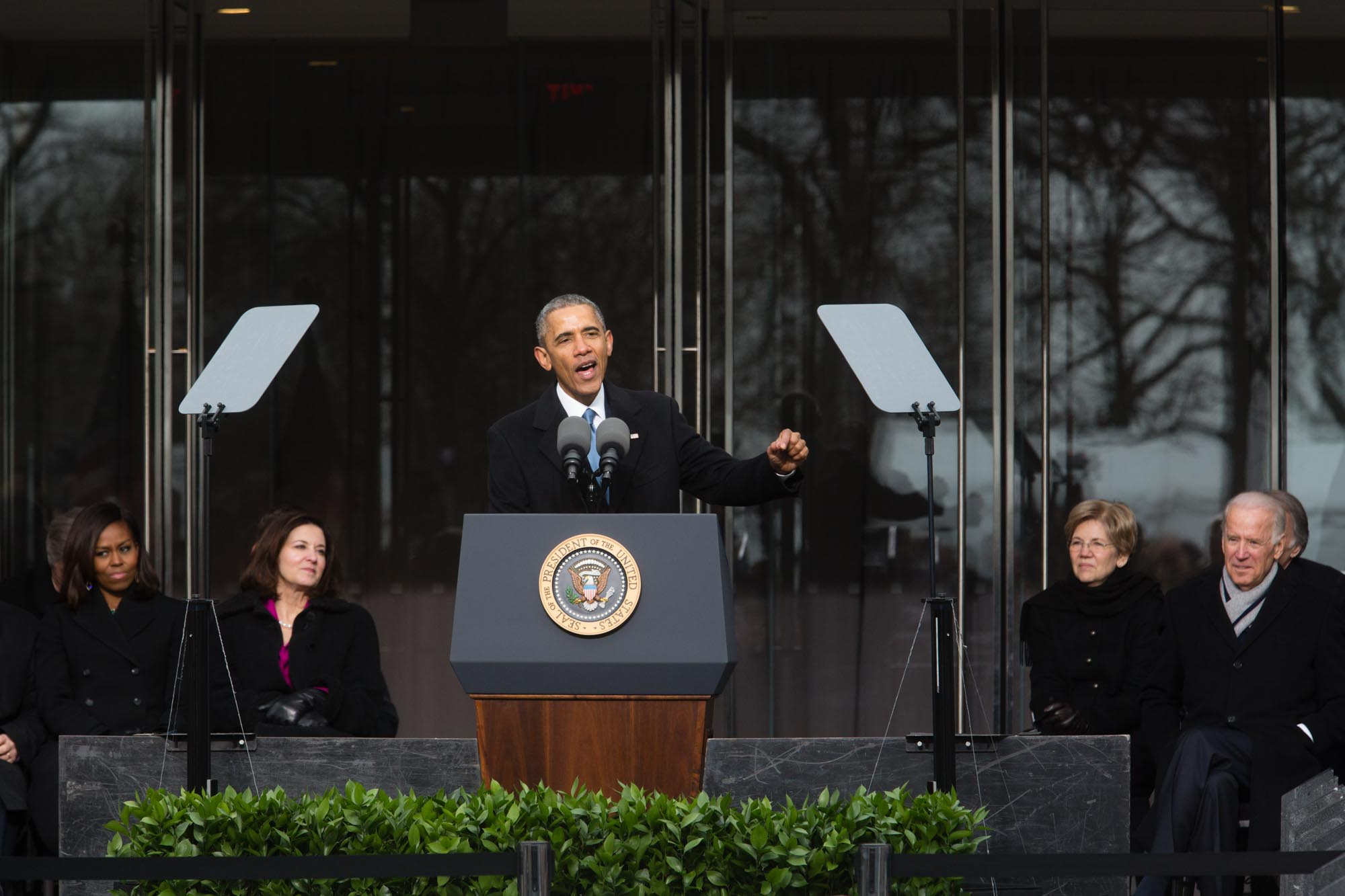 President Obama Speaks at the New Edward M. Kennedy Institute in Boston