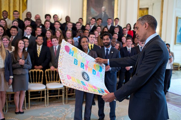 President Obama's Birthday Card